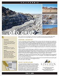 Oro Cruz Factsheet
